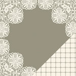 Making Memories - Tie the Knot Collection - 12 x 12 Double Sided Paper - Round Lace