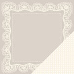 Making Memories - Tie the Knot Collection - 12 x 12 Double Sided Paper - Handkerchief Lace