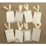 Making Memories - Tie the Knot Collection - Journaling Tags with Glitter Accents