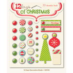 My Mind's Eye - 12 Days of Christmas Collection - Decorative Brads