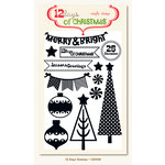 My Mind's Eye - 12 Days of Christmas Collection - Clear Acrylic Stamps