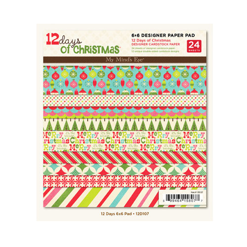 My Mind's Eye - 12 Days of Christmas Collection - 6 x 6 Paper Pad