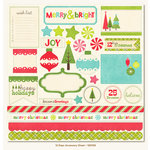 My Mind's Eye - 12 Days of Christmas Collection - 12 x 12 Die Cut Paper - 12 Days of Christmas