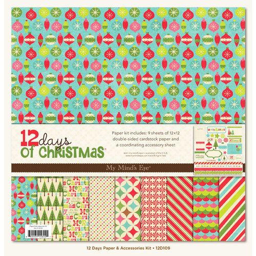 My Mind's Eye - 12 Days of Christmas Collection - 12 x 12 Paper Kit