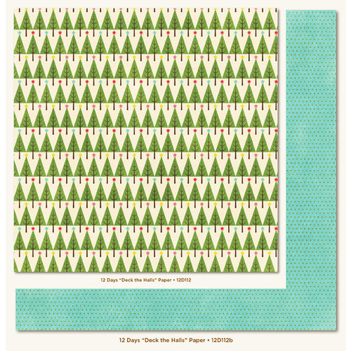 My Mind's Eye - 12 Days of Christmas Collection - 12 x 12 Double Sided Paper - Deck the Halls