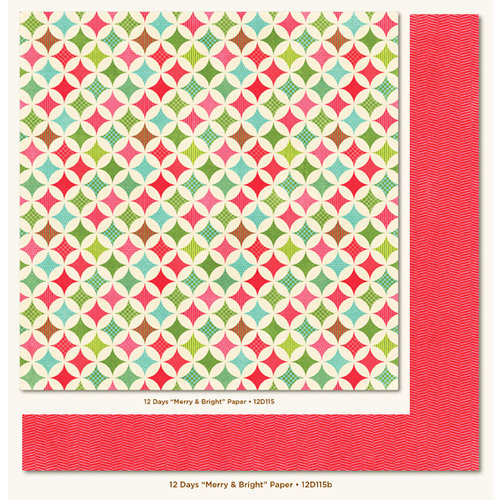 My Mind's Eye - 12 Days of Christmas Collection - 12 x 12 Double Sided Paper - Merry and Bright