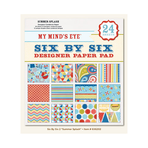 My Mind's Eye - 6 x 6 Paper Pad - Summer Splash