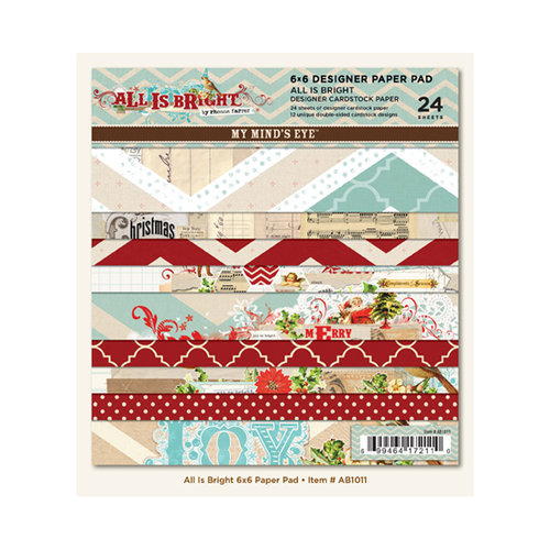 My Mind's Eye - All Is Bright Collection - Christmas - 6 x 6 Paper Pad