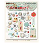 My Mind's Eye - All Is Bright Collection - Christmas - Decorative Brads