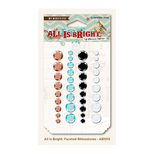 My Mind's Eye - All Is Bright Collection - Christmas - Faceted Rhinestones