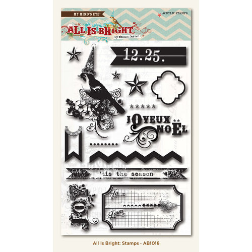 My Mind's Eye - All Is Bright Collection - Christmas - Clear Acrylic Stamps