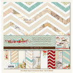 My Mind's Eye - All Is Bright Collection - Christmas - 12 x 12 Paper Kit