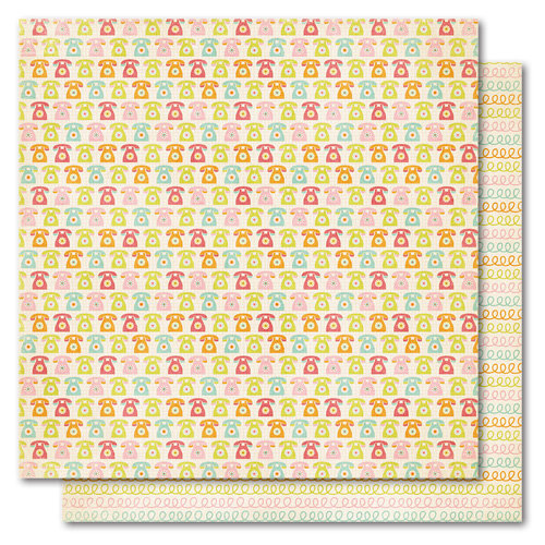 My Mind's Eye - Alphabet Soup Collection - 12 x 12 Double Sided Paper - Call Me Girl, CLEARANCE