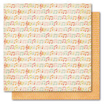 My Mind's Eye - Alphabet Soup Collection - 12 x 12 Double Sided Paper - Sweet Song Girl, CLEARANCE