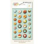 My Mind's Eye - Alphabet Soup Collection - Decorative Brads - Boy, CLEARANCE