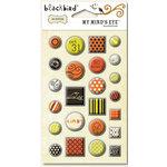 My Mind's Eye - Blackbird Collection - Decorative Brads, CLEARANCE