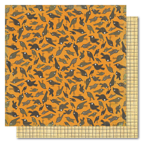 My Mind's Eye - Blackbird Collection - Halloween - 12 x 12 Double Sided Paper - Crows, CLEARANCE