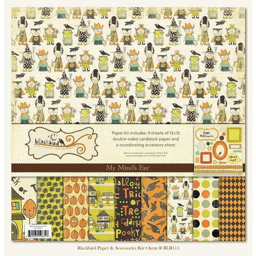 My Mind's Eye - Blackbird Collection - Halloween - Paper Kit, BRAND NEW - click to enlarge