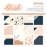 My Minds Eye - Blush Collection - 6 x 6 Paper Pad with Foil Accents