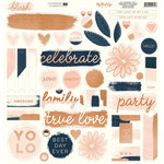 My Minds Eye - Blush Collection - 12 x 12 Chipboard Stickers - Elements