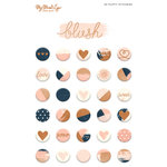 My Minds Eye - Blush Collection - Puffy Stickers