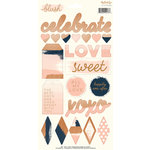 My Minds Eye - Blush Collection - Cardstock Stickers