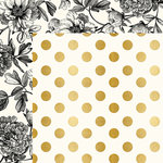 My Minds Eye - In Bloom Collection - 12 x 12 Double Sided Paper with Foil Accents - Modern Botanical