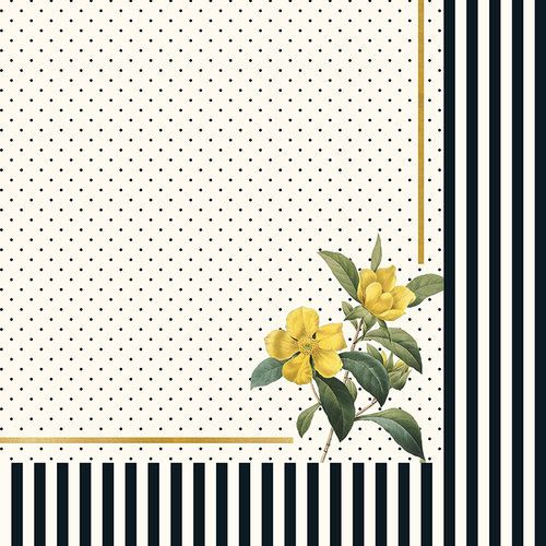 My Minds Eye - In Bloom Collection - 12 x 12 Double Sided Paper with Foil Accents - Flora