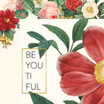 My Minds Eye - In Bloom Collection - 12 x 12 Double Sided Paper with Foil Accents - BeYOUtiful
