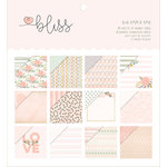 My Mind's Eye - Bliss Collection - 6 x 6 Paper Pad with Foil Accents
