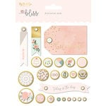 My Mind's Eye - Bliss Collection - Decorative Brads with Foil Accents