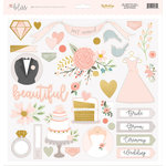 My Mind's Eye - Bliss Collection - 12 x 12 Chipboard Stickers - Elements with Foil Accents