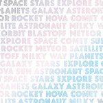 My Mind's Eye - Blast Off Collection - 12 x 12 Double Sided Paper with Foil Accents - Solar System