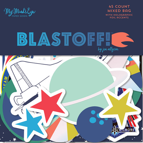 My Mind's Eye - Blast Off Collection - Mixed Bag with Foil Accents