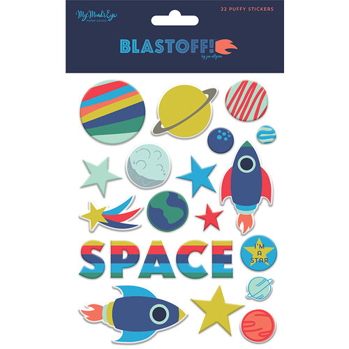 My Mind's Eye - Blast Off Collection - Puffy Stickers