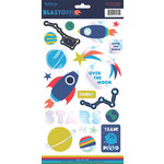 My Mind's Eye - Blast Off Collection - Cardstock Stickers with Foil Accents