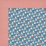 My Minds Eye - By the Sea Collection - 12 x 12 Double Sided Paper - Set Sail