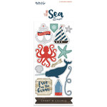 My Minds Eye - By the Sea Collection - Cardstock Stickers - Alphabet and Word