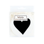 My Minds Eye - Black and White Collection - Banner - Circle - Hearts