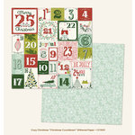 My Minds Eye - Cozy Christmas Collection - 12 x 12 Double Sided Paper with Glitter Accents - Christmas Countdown