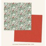 My Mind's Eye - Cozy Christmas Collection - 12 x 12 Double Sided Paper - Christmas Sentiments