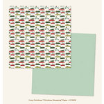 My Mind's Eye - Cozy Christmas Collection - 12 x 12 Double Sided Paper - Christmas Shopping