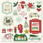 My Minds Eye - Cozy Christmas Collection - 12 x 12 Chipboard Stickers - Elements