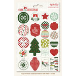 My Mind's Eye - Cozy Christmas Collection - Chipboard Buttons