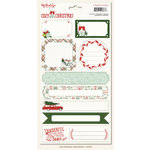 My Minds Eye - Cozy Christmas Collection - Cardstock Stickers - Labels