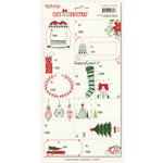 My Minds Eye - Cozy Christmas Collection - Cardstock Stickers - Tags