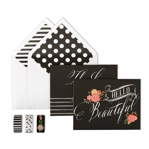 My Minds Eye - Chalk Collection - Card Box Kit - Hello Beautiful