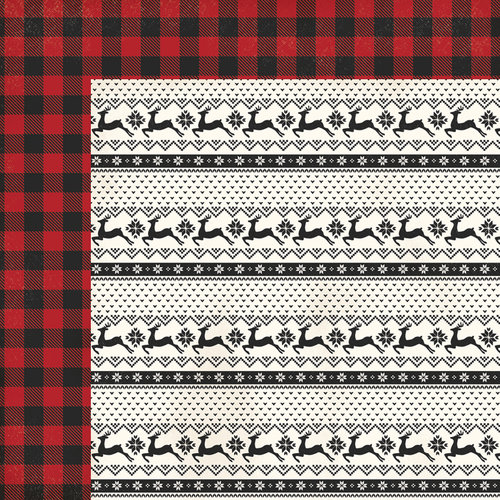 My Minds Eye - Comfort and Joy Collection - Christmas - 12 x 12 Double Sided Paper - Sweater Weather