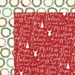 My Minds Eye - Comfort and Joy Collection - Christmas - 12 x 12 Double Sided Paper - Christmas Cheer