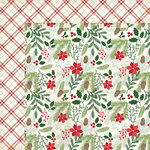 My Minds Eye - Comfort and Joy Collection - Christmas - 12 x 12 Double Sided Paper with Glitter Accents - Evergreen and Holly